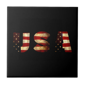 United States of America Small Square Tile