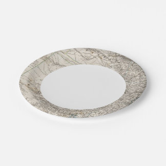 United States of America South Indian Territory 7 Inch Paper Plate