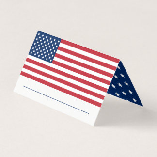 United States of America | Stars and Stripes Flag Place Card