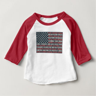 United States Of America   States & Capitals Baby T-Shirt