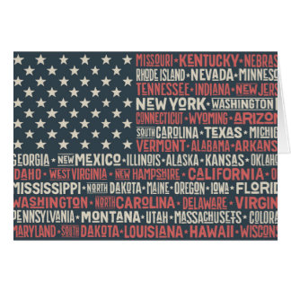 United States Of America |States & Capitals Card