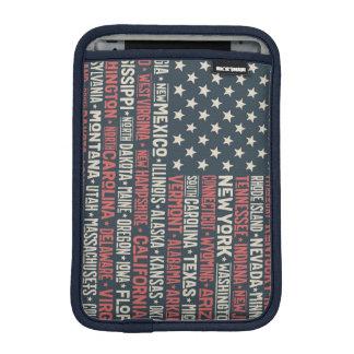United States Of America |States & Capitals iPad Mini Sleeve