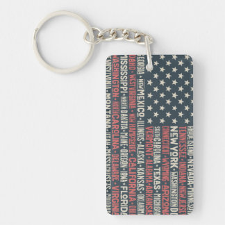 United States Of America |States & Capitals Key Ring