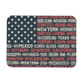 United States Of America  States & Capitals Magnet