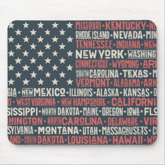 United States Of America |States & Capitals Mouse Pad