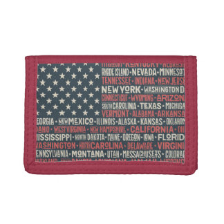 United States Of America |States & Capitals Tri-fold Wallet