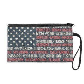 United States Of America |States & Capitals Wristlet