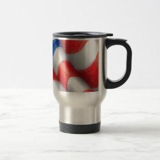 United States of America Wavy Flag Zen Doodle Art Travel Mug