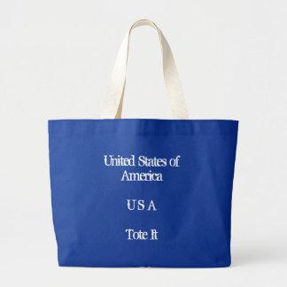 United States of AmericaU S ATote It Jumbo Tote Bag