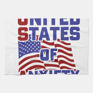 United States of Anxiety Tea Towel
