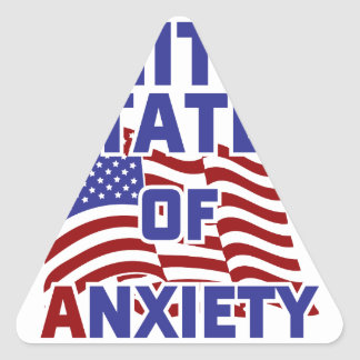 United States of Anxiety Triangle Sticker
