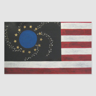 United States of Earth Rectangular Sticker