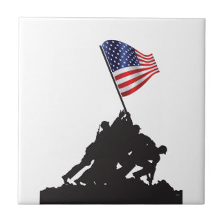 United States, Patriot, Flag and Military Ceramic Tile