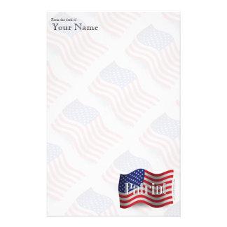United States Patriot Waving Flag Stationery