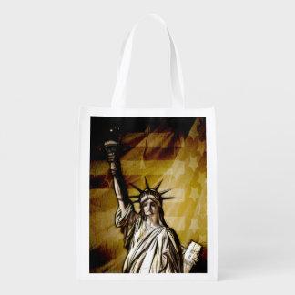United States Patriotic Grocery Bag