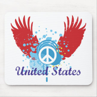 United States Peace Sign Mouse Pad