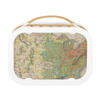 United States Population Density, 1890 Lunch Boxes