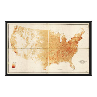 United States Population Density Map (1940) Canvas Print