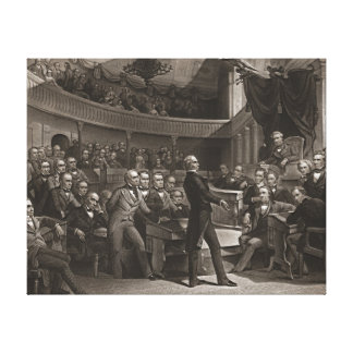 United States Senate 1850 Stretched Canvas Prints