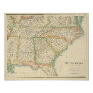 United States South Eastern States Poster