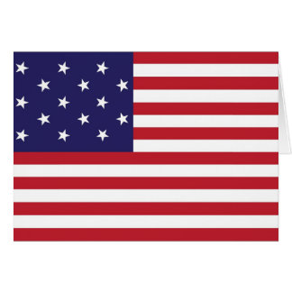 United States Star Spangled Banner Flag Greeting Cards