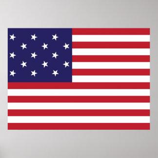 United States Star Spangled Banner Flag Poster