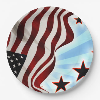 United States stars 9 Inch Paper Plate