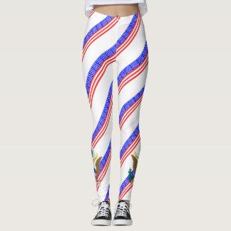 United States stripes flag Leggings
