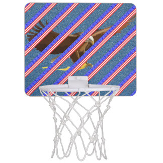 United States stripes flag Mini Basketball Hoop