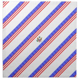 United States stripes flag Napkin