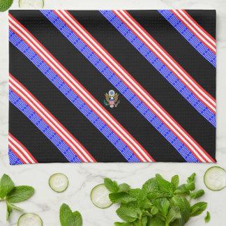 United States stripes flag Tea Towel