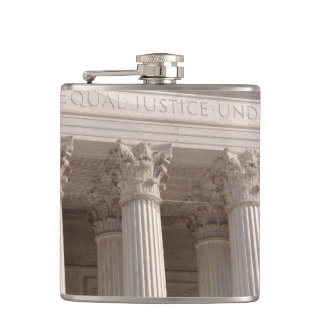United States Supreme Court Pillars Hip Flask