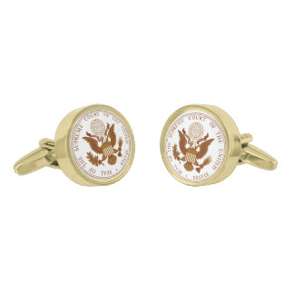 United States Supreme Court Seal Gold Finish Cuff Links