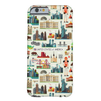 United States Symbols Pattern Barely There iPhone 6 Case