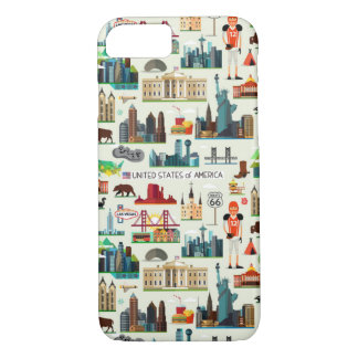United States Symbols Pattern iPhone 8/7 Case