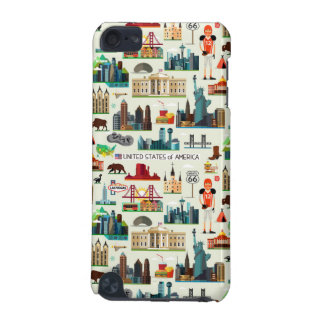 United States Symbols Pattern iPod Touch (5th Generation) Cases
