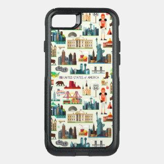United States Symbols Pattern OtterBox Commuter iPhone 7 Case