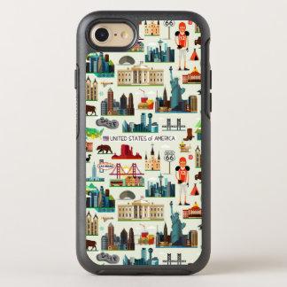 United States Symbols Pattern OtterBox Symmetry iPhone 7 Case