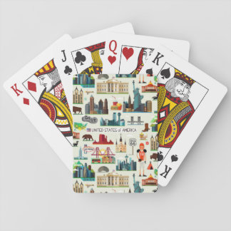 United States Symbols Pattern Playing Cards