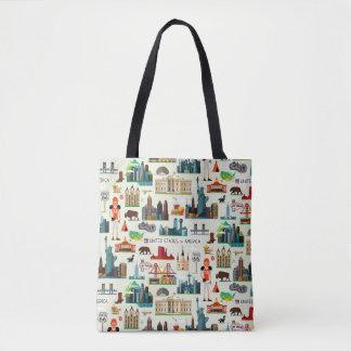 United States Symbols Pattern Tote Bag