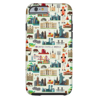 United States Symbols Pattern Tough iPhone 6 Case