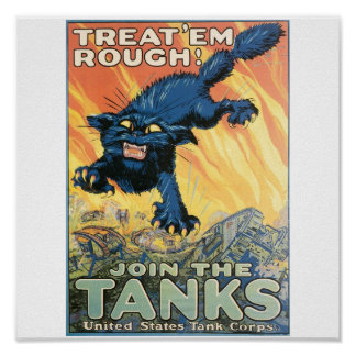 United States Tank Corps. circa 1918 Poster