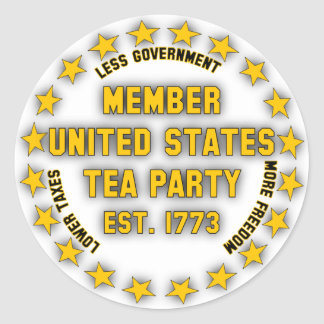 United States Tea Party Round Stickers