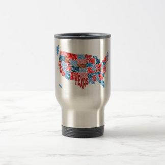 United States Typography Text Map Mug