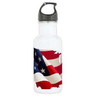 United States undulating flag 532 Ml Water Bottle
