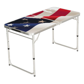 United States undulating flag Beer Pong Table