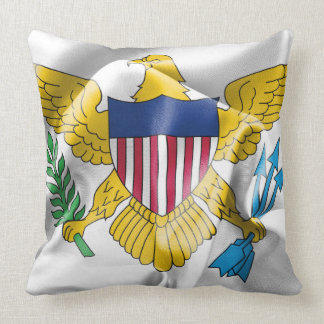 United States Virgin Islands Flag Throw Pillow