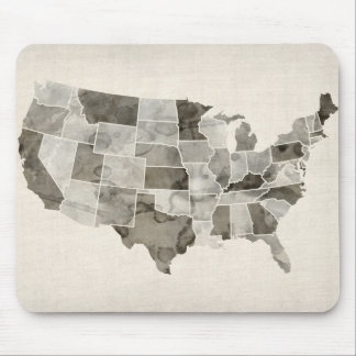 United States Watercolor Map Mouse Pad