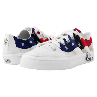 United States waving flag Low Tops