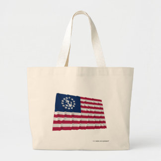 United States Waving Yacht Ensign Canvas Bag